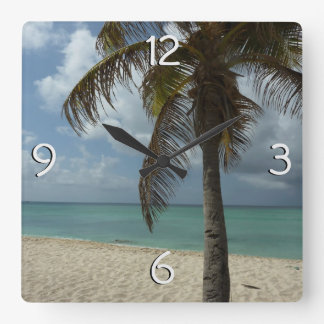 Aruban Beach I Beautiful Nature Scene Wall Clocks