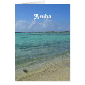 Aruban Beach Note Card