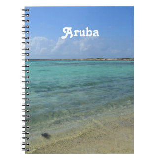Aruban Beach Spiral Note Book