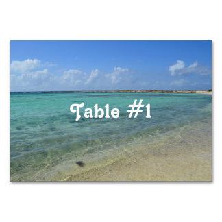 Aruban Beach Table Card