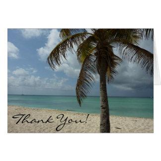 Aruban Beach Thank You Card