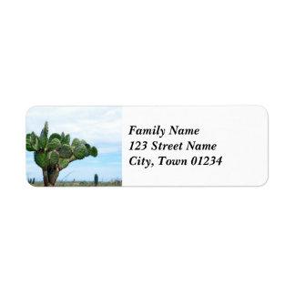 Aruban Cactus Return Address Label