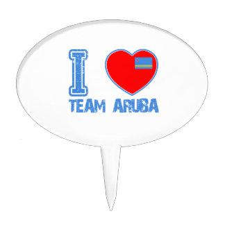 Aruban designs cake pick