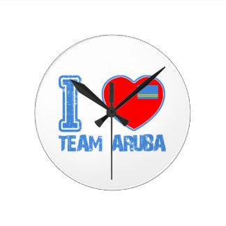 Aruban designs round wallclock
