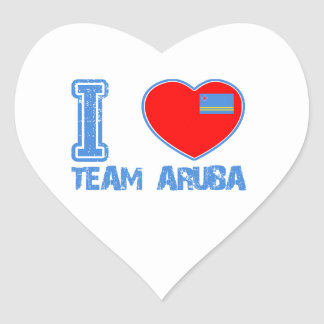Aruban designs heart sticker