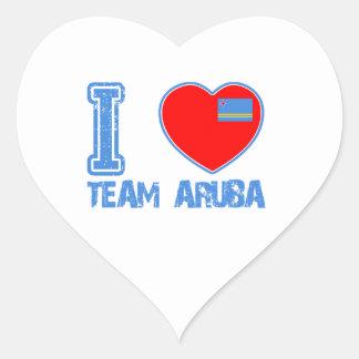 Aruban designs heart sticker