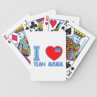 Aruban designs playing cards