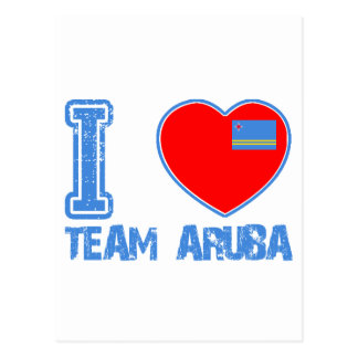 Aruban designs postcard