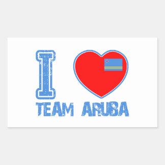 Aruban designs rectangular sticker