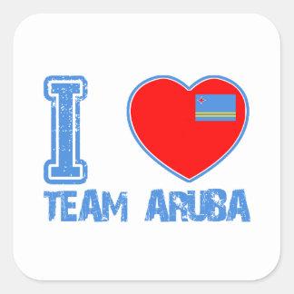 Aruban designs square stickers