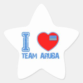 Aruban designs star sticker