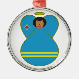 Aruban Flag Angel Christmas Ornament