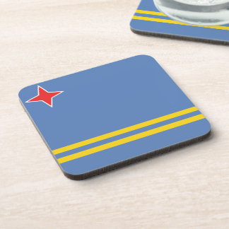 Aruban Flag Drink Coasters