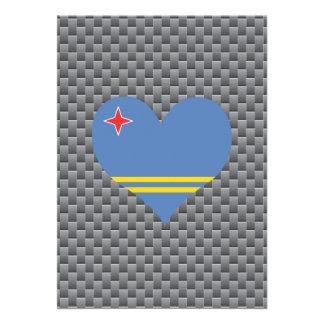 "Aruban Flag on a cloudy background 5"" X 7"" Invitation Card"