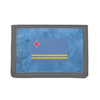 Aruban flag trifold wallet