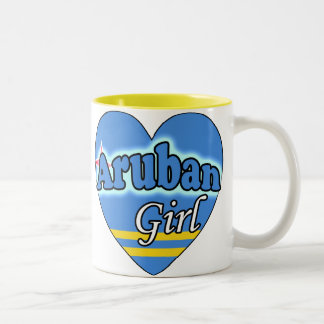 Aruban Girl Two-Tone Mug