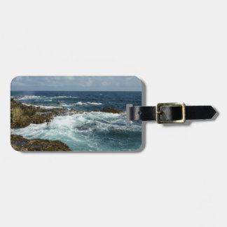 Aruba's Rocky Coast and Blue Ocean Tags For Bags
