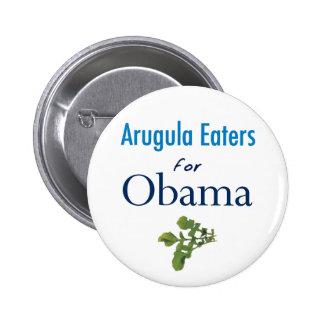 Arugula Eaters for Obama Button