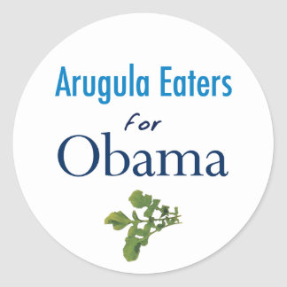 Arugula Eaters for Obama Stickers