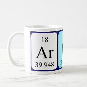 Name spelled with chemical elements mugs coffee mugs cups zazzle uk arun periodic table name mug urtaz Choice Image