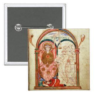 Arundel 155 f.133 Monks of Christchurch, Canterbur 15 Cm Square Badge