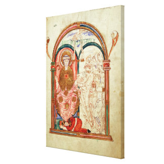 Arundel 155 f.133 Monks of Christchurch, Canterbur Canvas Prints