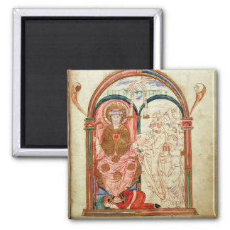 Arundel 155 f.133 Monks of Christchurch, Canterbur Fridge Magnets