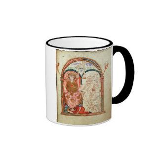 Arundel 155 f.133 Monks of Christchurch, Canterbur Ringer Coffee Mug