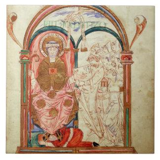 Arundel 155 f.133 Monks of Christchurch, Canterbur Tile
