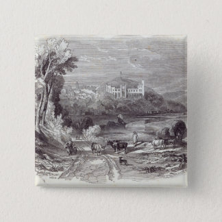 Arundel Castle and Town 15 Cm Square Badge