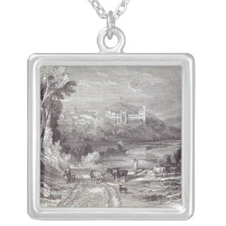 Arundel Castle and Town Silver Plated Necklace