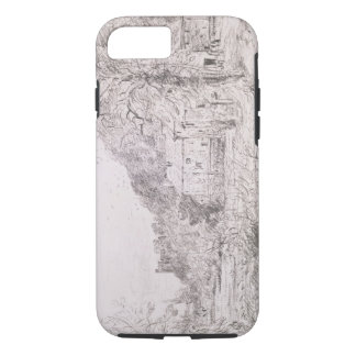 Arundel Mill and Castle, 1835 (drawing) iPhone 8/7 Case