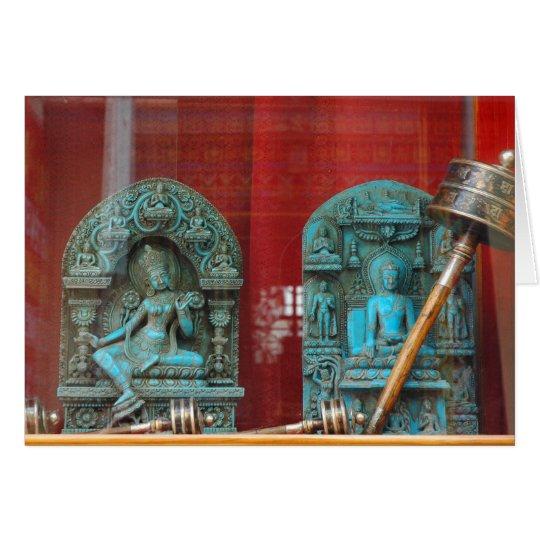 Arya Tara and Lord Buddha, Bodha, Nepal Card