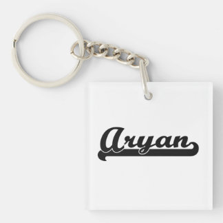 Aryan Classic Retro Name Design Single-Sided Square Acrylic Key Ring