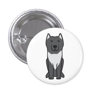 Aryan Molossus Dog Cartoon Pinback Button