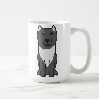 Aryan Molossus Dog Cartoon Basic White Mug