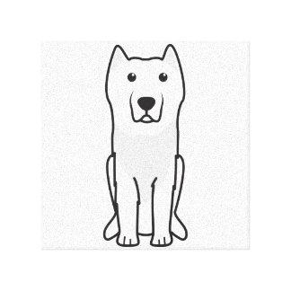 Aryan Molossus Dog Cartoon Gallery Wrap Canvas