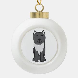 Aryan Molossus Dog Cartoon Ceramic Ball Decoration