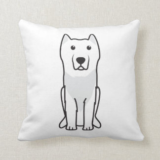 Aryan Molossus Dog Cartoon Throw Pillow