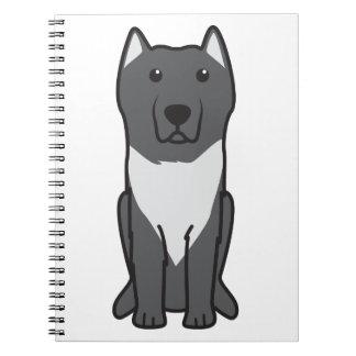 Aryan Molossus Dog Cartoon Spiral Note Books