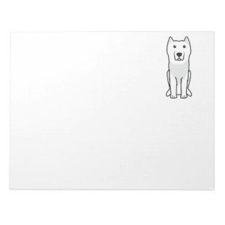 Aryan Molossus Dog Cartoon Memo Note Pad