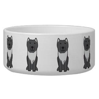 Aryan Molossus Dog Cartoon Pet Water Bowls