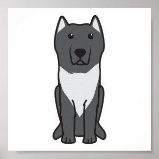 Aryan Molossus Dog Cartoon Poster