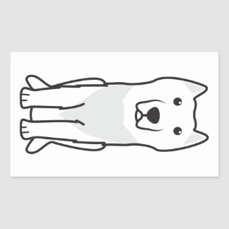 Aryan Molossus Dog Cartoon Rectangular Sticker