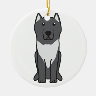 Aryan Molossus Dog Cartoon Round Ceramic Decoration