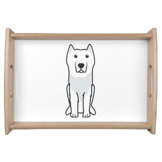 Aryan Molossus Dog Cartoon Serving Platter