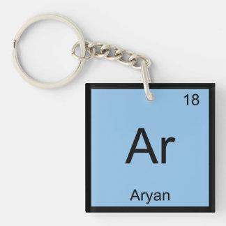 Aryan Name Chemistry Element Periodic Table Single-Sided Square Acrylic Key Ring