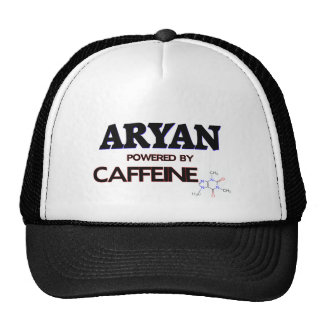 Aryan powered by caffeine hats