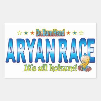 Aryan Race Dr. B Head Rectangular Sticker