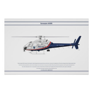 AS355 UK Police 1 Posters